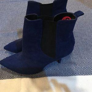Guess Blue Velvet Heel